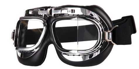 GAFAS MOTERO CROMADO/NEGRO AIR FORCE