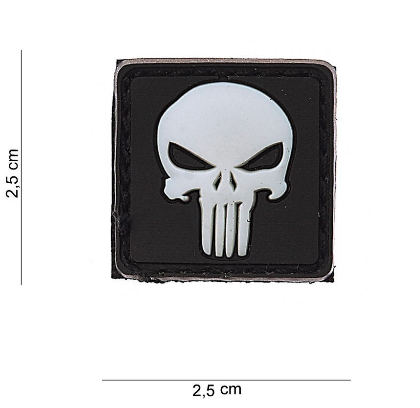 Parche 3D PVC PUNISHER 2.5X2.5CM