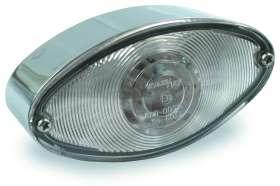 Chemini Accesorios de moto Pr/íncipe Harley Cruz Retro Redondo Cerca luz de la cola luz de freno Luces de conducci/ón Soporte met/álico con luz de matr/ícula 15W 12V-1PCS