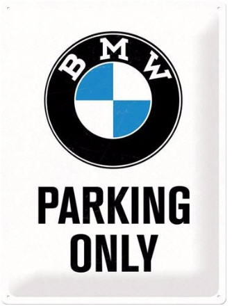 Placa metálico BMW parking only