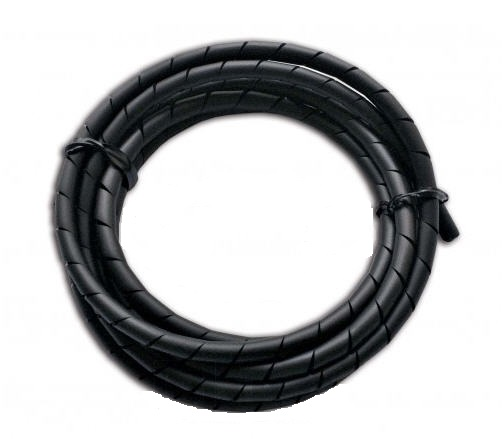 FUNDA CABLE ESPIRAL NEGRO 1.5M D: 4 HASTA 20MM