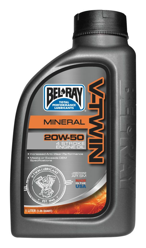 BEL-RAY ACEITE 20W50 1L MINERAL V-TWIN