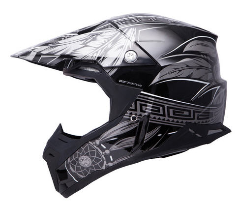 CASCO MT CROSS SYNCHRONY NEGRO/GRIS M