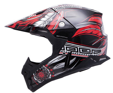 CASCO MT CROSS SYNCHRONY NEGRO/ROJO S