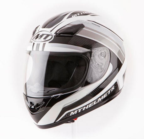 CASCO MT IMOLA II OVERCOME BLANCO/NEGRO XS