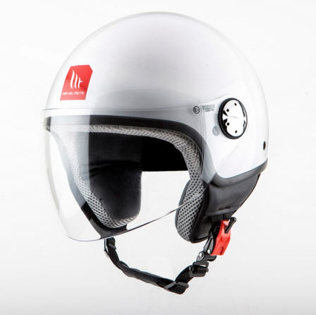 CASCO MT STREET BLANCO PERLA XL