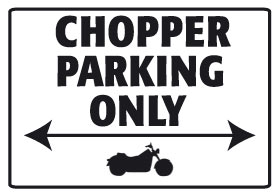 Placa de aluminio Chopper Parking Only
